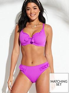 c966a591de Pour Moi Getaway Frill Bikini Brief - Violet