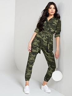 77dc750c3f90 V by Very Camo Jumpsuit - Print