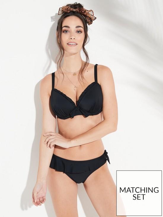 77db82181a4 Splash Frill Bikini Briefs - Black