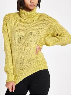 river-island-river-island-roll-neck-knit-jumper-yellow