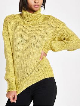 river-island-river-island-roll-neck-knit-jumper-yellow