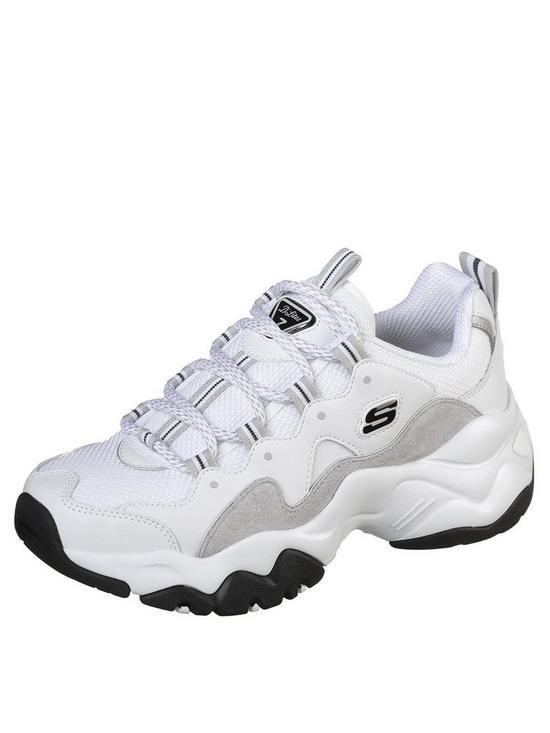 d98a927e6cee Skechers D Lites 3 Zenway Lace Up Trainers - White