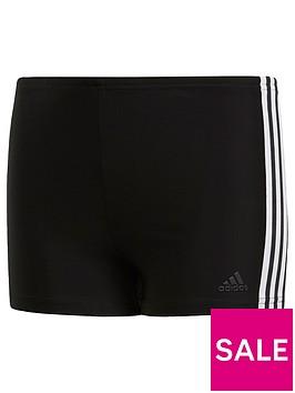 adidas-swim-fit-boxer-3-stripe-youth-blackwhite