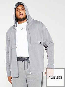 adidas-plus-size-zip-through-hoodie-grey