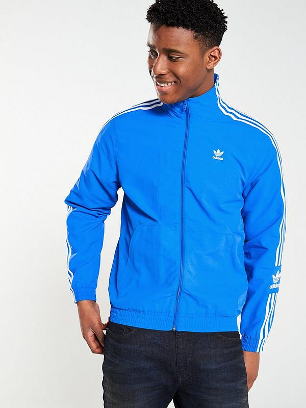 Lock Up Track Top Blue