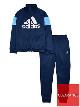 adidas-youth-badge-of-sport-tracksuit-navyblue