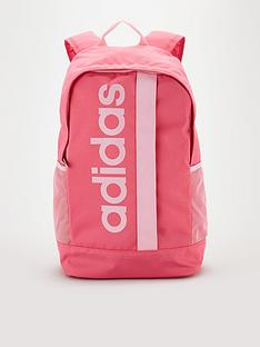 adidas-linear-logo-core-backpack-pink
