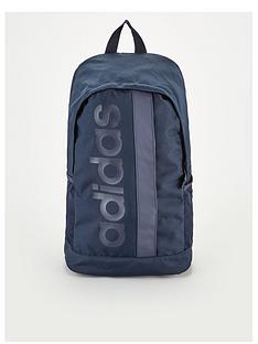adidas-linear-logo-core-backpack-navy