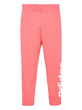 adidas-youth-linear-leggings-pinkwhite