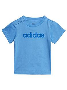 adidas-infant-linear-t-shirt-blue