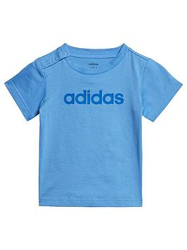 adidas-infant-linear-t-shirt-blue