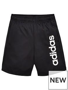 adidas-youth-tr-linear-knit-shorts-blackwhite