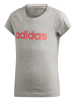 adidas-youth-linear-t-shirt-greypink