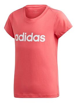 adidas-youth-linear-t-shirt-pinkwhite