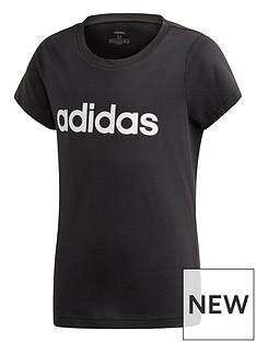 adidas-youth-linear-t-shirt-blackwhite