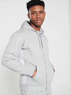 adidas-side-3-stripe-full-zip-hoodienbsp--medium-grey-heather
