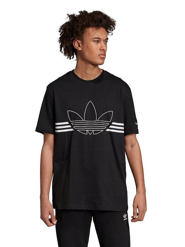 unikalny design szerokie odmiany nowy przyjeżdża Adidas Originals Spirit Outline Trefoil T-shirt
