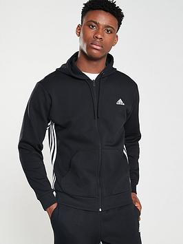 adidas-side-3-stripe-full-zip-hoodie-black