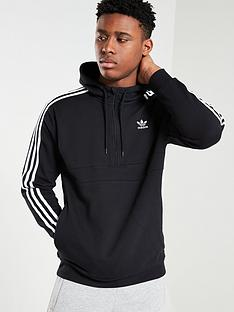 adidas-originals-3-stripe-half-zip-hoodienbsp--black