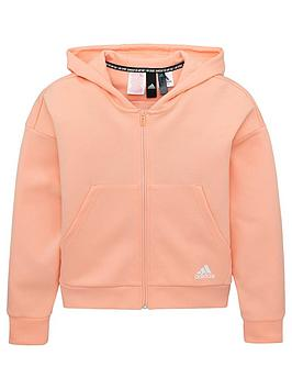 adidas-youth-3-stripe-full-zip-hoodie-pinkwhite