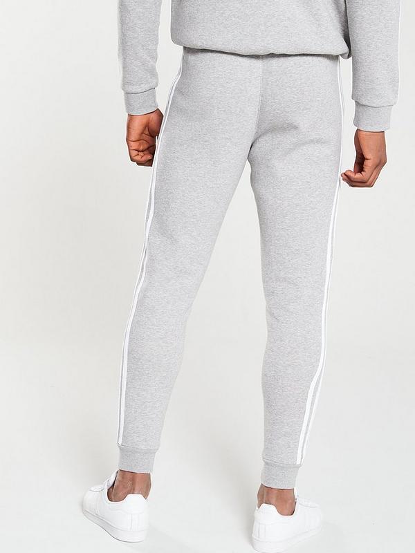 new styles wide varieties amazon 3 Stripe Pants - Medium Grey Heather