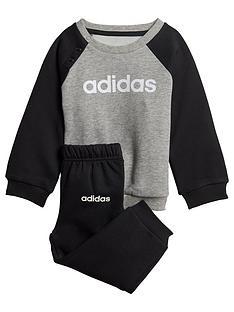 adidas-infant-linearnbspjogger-set-greyblack