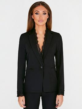 studio-mouthy-by-megan-mckenna-lace-trim-blazer-black
