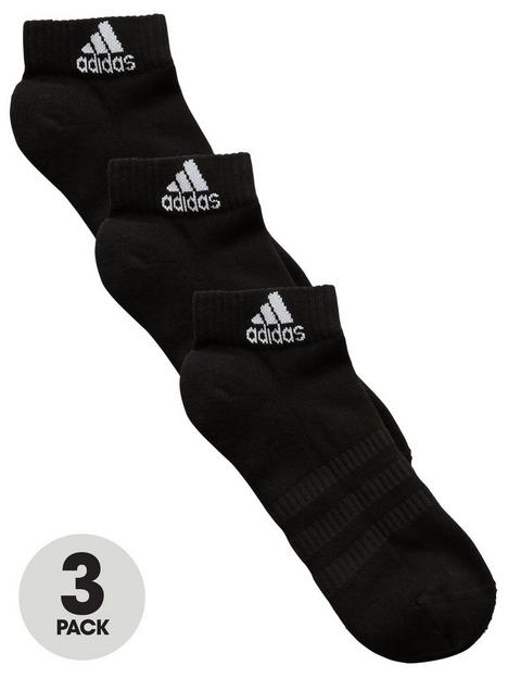 adidas-cushioned-ankle-socks-black-3-pack