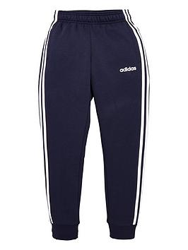 adidas-youth-3-stripe-pants-navywhite