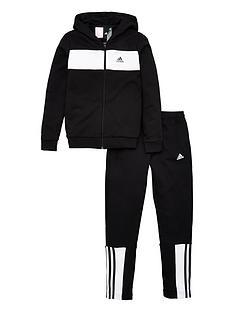 adidas-youth-cotton-tracksuit-blackwhite