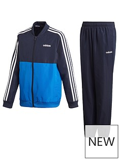 adidas-woven-youth-3-stripe-tracksuit-bluenavy