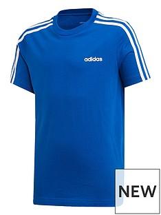 adidas-youthnbsp3-stripe-t-shirt-bluewhite