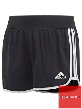 adidas-youth-tr-3-stripes-mar-short-blackwhite
