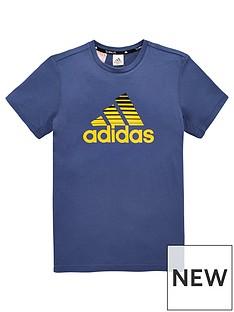 adidas-youthnbspprime-climalitenbspt-shirt-bluegold