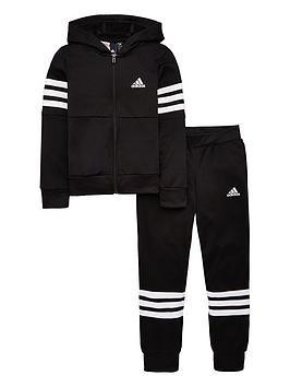 adidas-youth-hooded-pes-tracksuit-blackwhite