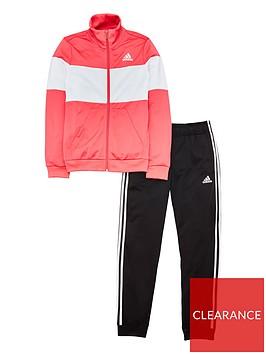 adidas-youth-premium-essentials-tracksuit-pink