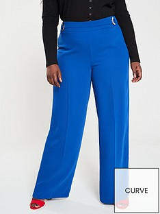 v-by-very-curve-d-ring-detail-wide-leg-trouser-blue