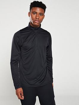 adidas-12-zip-training-top-black