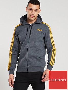 adidas-3-stripe-essential-full-zip-hoodienbsp--dark-grey-heathernbsp