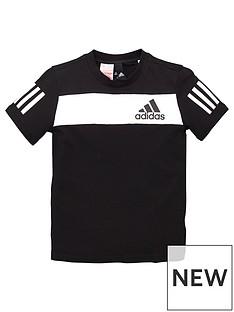 adidas-youth-sport-id-t-shirt-blackwhite