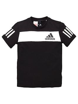 adidas-youth-sport-id-t-shirt-blackwhite