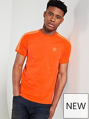 359a5f74fd1 adidas Originals California 3 Stripe T-Shirt - Orange