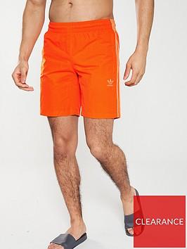 adidas-originals-3-stripe-swim-shorts-orange