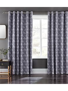 catherine-lansfield-art-deco-eyelet-curtains