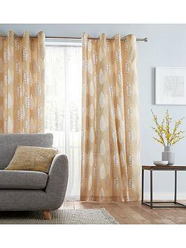catherine-lansfield-stockholm-leaves-lined-eyelet-curtains