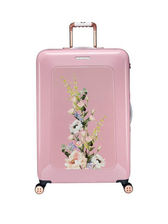 ba5e22780f4bc Ted Baker Take Flight Large 4 Wheel Suitcase Elegant Pink