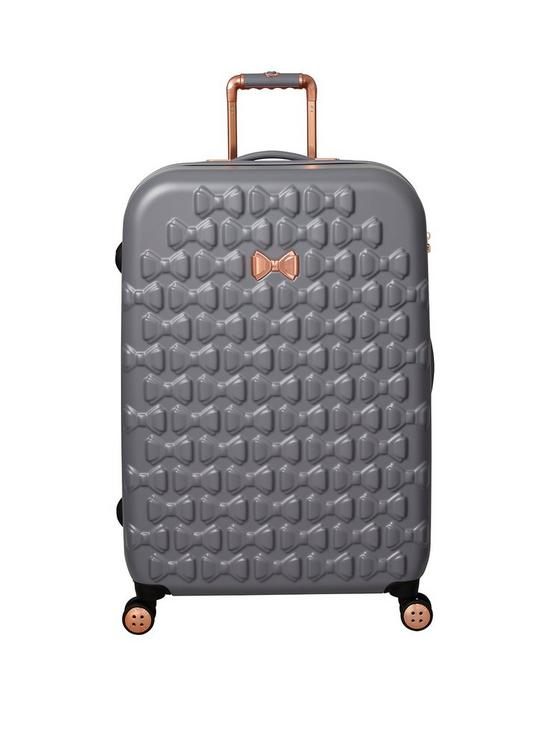 a935a42f323f60 Ted Baker Beau Large 4 Wheel Suitcase Grey