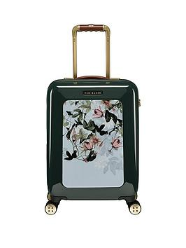 ted-baker-take-flight-small-4-wheel-suitcase-illusion-grn