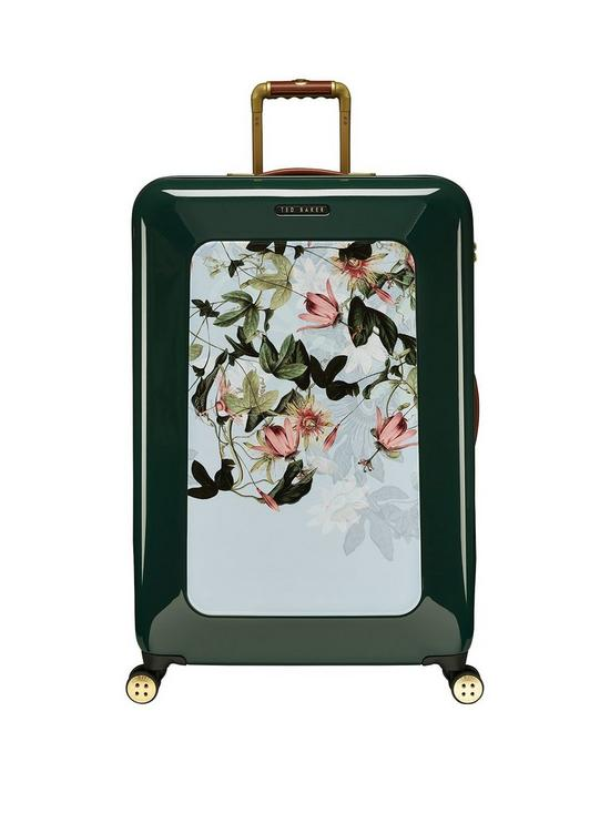 aab16b32a55f Ted Baker Take Flight Large 4 Wheel Suitcase Illusion Grn