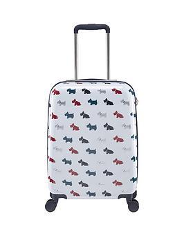 radley-radley-multi-dog-small-4-wheel-suitcase-white